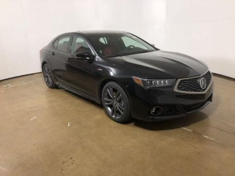 Pre-Owned 2019 Acura TLX 2.4L FWD w/A-Spec Pkg Red Leather